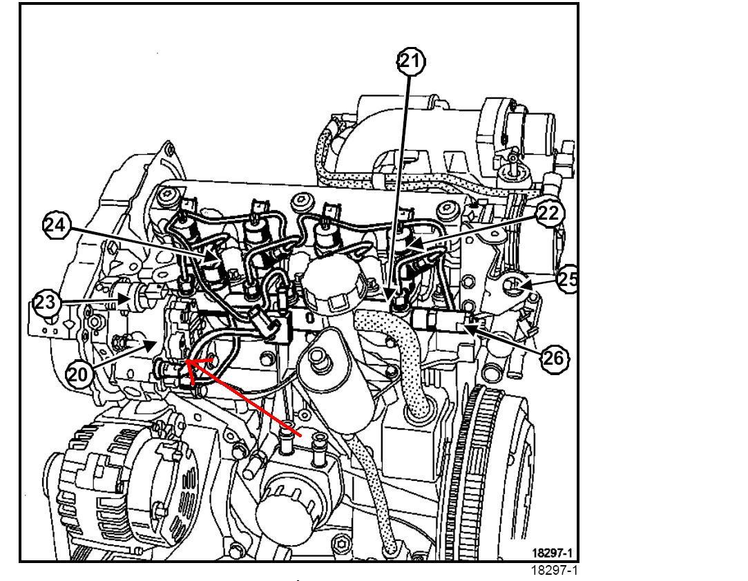 megane ii phii  schemat silnika a konkretnie przewod u00f3w